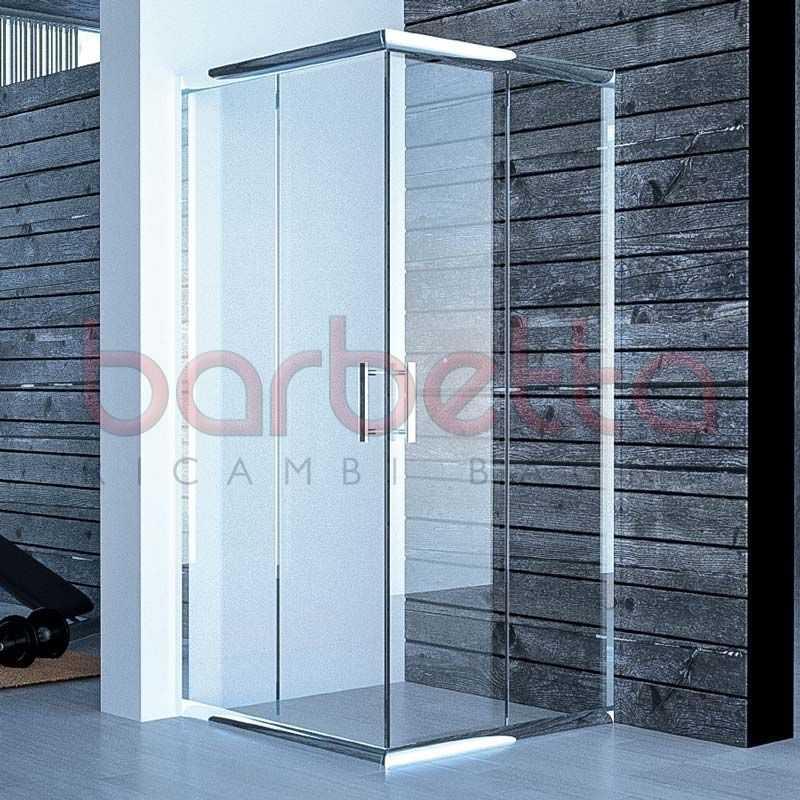 Box Doccia In Cristallo Satinato : Box doccia cristallo satinato opaco profilo cromo