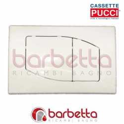 PLACCA PUCCI ECO ROMBO PARETE BIANCO DUE PULSANTI 80000530